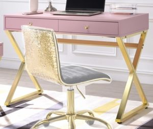 Pink/gold desk for Sale in Fresno, CA