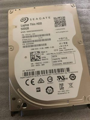 Seagate 500 GB Thin Hard Drive 2.5 Inch 5400 RPM for Sale in Taylorsville, UT