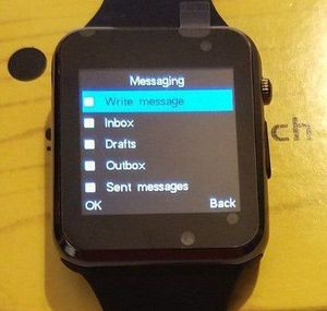 WATERPROOF BLACK SMARTWATCH WITH CAMERA BLUETOOTH TOUCH SCREEN PAIR VIA BLUETOOTH OR USE SIM CARD for Sale in FAIR OAKS, TX