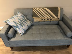 Beautiful, mid century baby blue couch for Sale in San Francisco, CA