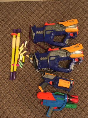 Nerf guns - 4 guns and accessories for Sale in Tucker, GA