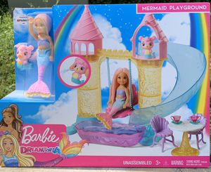 Barbie Dreamtopia Mermaid Playground Playset, with Chelsea Mermaid Doll, Merbear Friend Figure for Sale in Marietta, GA