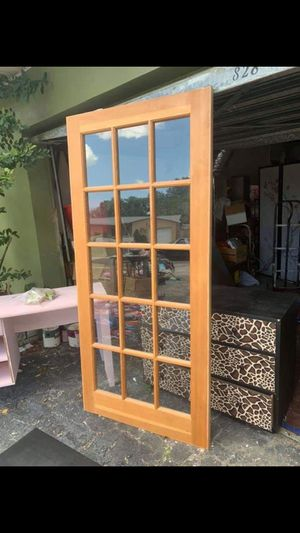 """Rogue Valley French Door 77.5"""" x 36"""" Good Condition, only there's a few screw holes in doors We have two doors available $100 each for Sale in Largo, FL"""