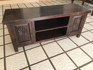 Tv stand natural wood 55x20x24H for Sale in Burbank, CA