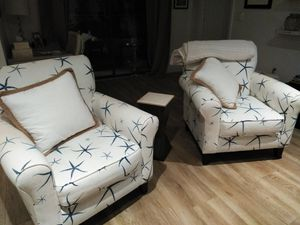 Two matching chairs with ottoman for Sale in Venice, FL
