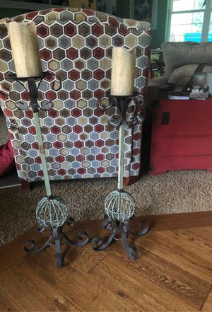 Large candle holders metal very nice for Sale in Olympia, WA