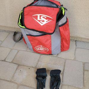 Bat Bag And Gloves for Sale in Chandler, AZ