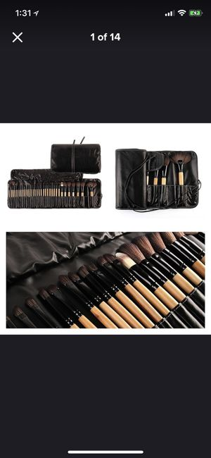 32pcs professional makeup brush in black brand new with bag for Sale in East Windsor, NJ