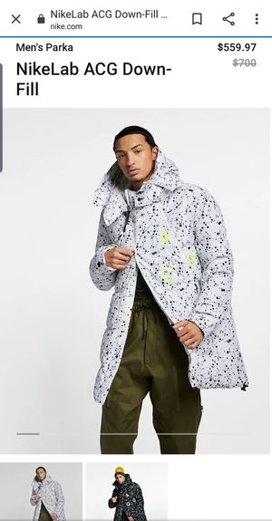 Nike NikeLab ACG down filled jacket white Men's parka for Sale in San Diego, CA