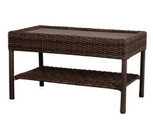 New Hampton Bay Cambridge Brown wicker outdoor coffee table $40 for Sale in Lewis Center, OH