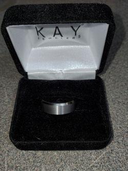 Mens Engagement Ring Size 10 8mm Triton Satin Finish Center Beveled Edges for Sale in Ellensburg,  WA