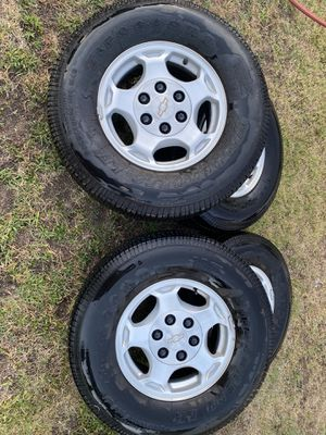 Chevy stock rims and tires for Sale in San Bernardino, CA