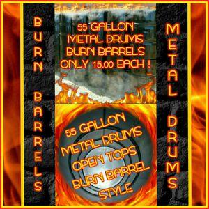 🔥🔥BURN BARRELS 🔥🔥💥55 GALLON METAL BARRELS 💥 for Sale in Goldsboro, NC