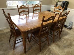 Large kitchen table with 6 chairs for Sale in Turlock, CA