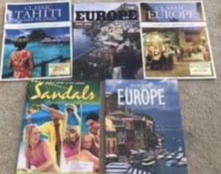 FREE Travel Books / Magazines (Europe / Tahiti) for Sale in Milford Charter Township,  MI