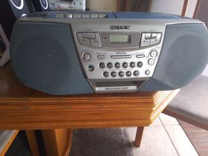 Sony cassette/ CD F.M/ A.M radio. Works even with the atenna broke but it all there. Good for kids room or garage. $20.00 O.B.O for Sale in Downey, CA