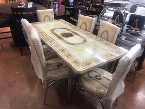 Dining table with 6 chairs brand new (((( free delivery)) for Sale in Dallas, TX