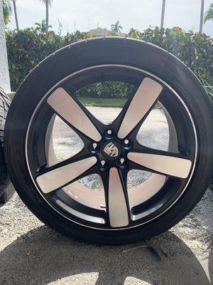 """22"""" Porsche Wheel with Premium tires for Sale in Miami, FL"""