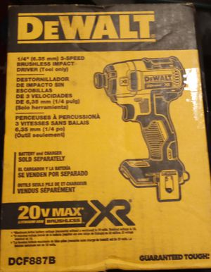 DeWalt 20 volt Max XR 1 quarter inch 3 speed brushless impact driver for Sale in Sacramento, CA