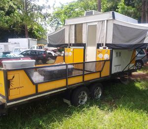 2007 Fleetwood/Coleman pop up camper Scorpion S1 hybrid toy hauler for Sale in West Palm Beach, FL