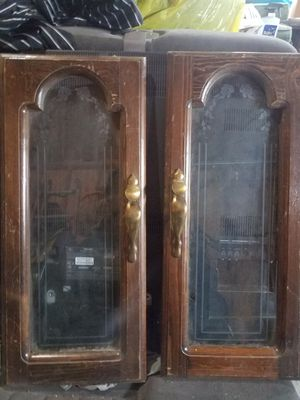 Antique etched glass cabinet doors for Sale in Coeur d'Alene, ID