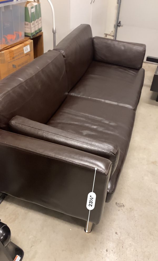 Ikea Sater Leather Modern Couch