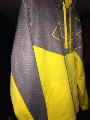 Yellow and grey Under Armour hoodie large for Sale in Union, NJ