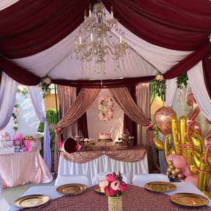 Burgundy and Rosegold decorations for Sale in Compton, CA