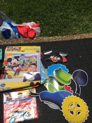 Free Mickey Mouse back drop and props for Sale in Brentwood, TN