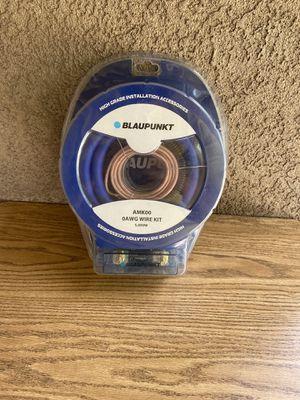 Blaupunkt zero guage Amplifier kit for Sale in Modesto, CA