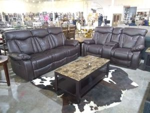Sofa and loveseat $1200 sale today only THEY RECLINE for Sale in Dallas, TX