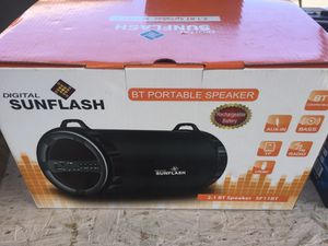 Portable Bluetooth rechargeable fm USB sd speaker for Sale in San Francisco, CA