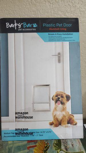 Barks pet accessories plastic pet door aluminum lining for Sale in Modesto, CA