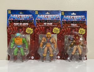 MASTERS OF THE UNIVERSE Origins 3 Figures He-Man, Teela & Man-At-Arms RETRO for Sale in Margate, FL