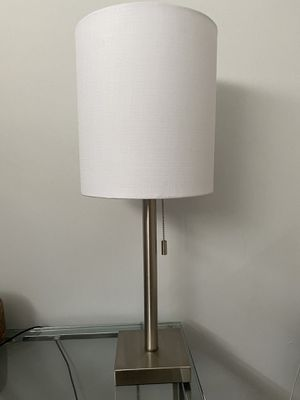 Silver and White Table Lamp (set of 3) for Sale in Los Angeles, CA