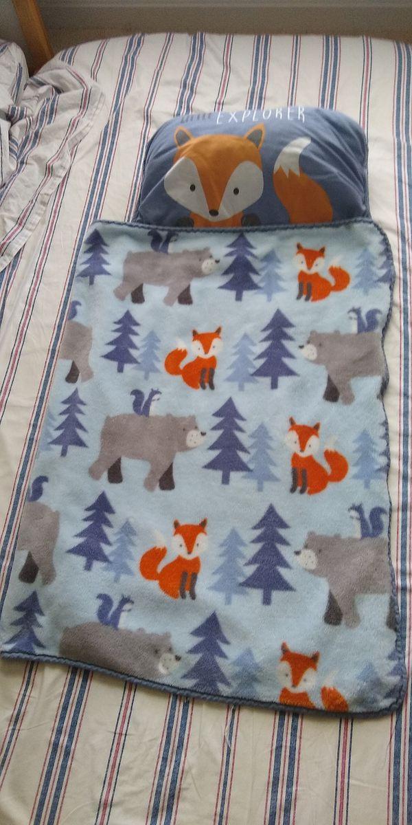 New toddler sleeping bag and used nap mat