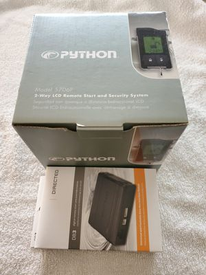 PYTHON 5706P 2 Way LCD Car Alarm Remote Engine Start System and Directed install kit. I for Sale in Gilbert, AZ