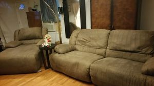 Reclining couch for Sale in Sterling, VA