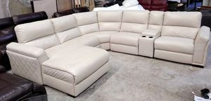 Jessi 6pc Italian leather sectional sofa for Sale in Decatur, GA