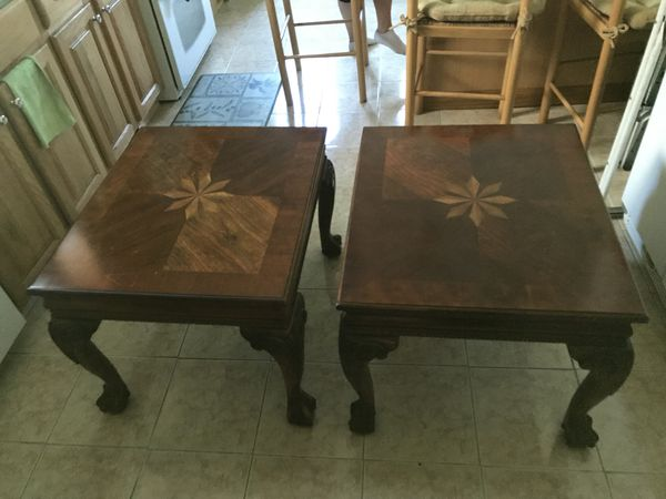 1 coffee table and 2 end tables