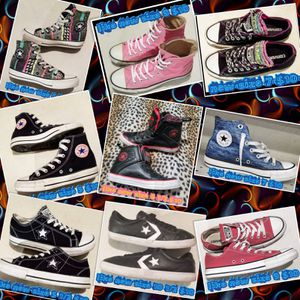9 pair of Converse All Stars all sizes new or like-new for ladies for Sale in Las Vegas, NV