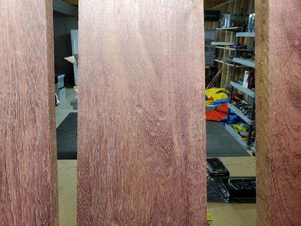 Purpleheart 8/4 lumber for woodworking