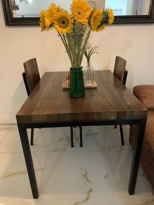 Faux Wood Dining Table w/ Two Chairs for Sale in Pembroke Pines, FL