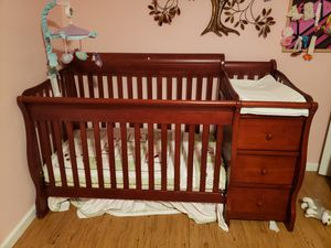 Crib with changing table and bedding set and matress for Sale in Denver, CO