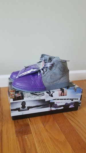 Jordan 1 Mid Sheila Rashid Purple/Grey Size 7, 8, and 9 Women for Sale in Paramus, NJ