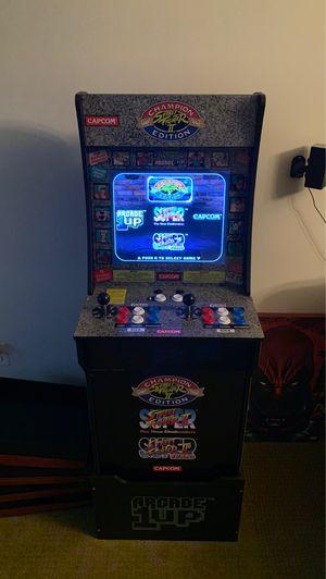 Arcade 1up Street Fighter II Cabinet w/ RISER for Sale in Ashburn, VA