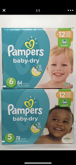 Pampers size 5 & 6 for Sale in Hawthorne, CA