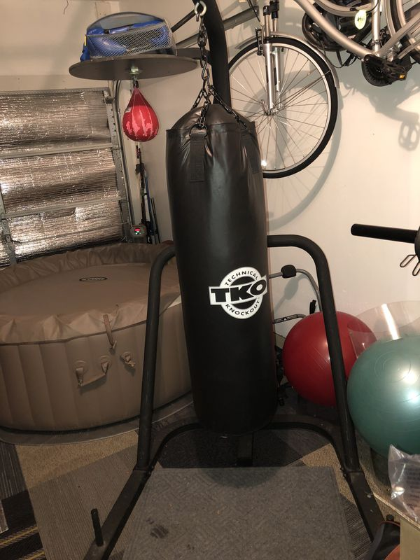 TKO Boxing Stand 100lb Heavy and Speed Bag