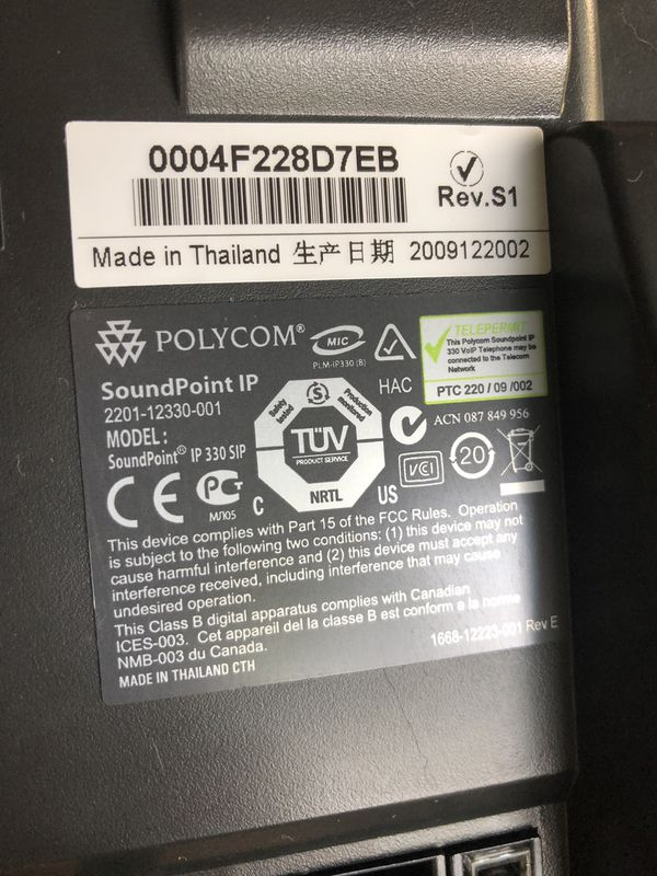 Polycom phones soundpoint ip 330 550 for Sale in Hallandale Beach, FL -  OfferUp