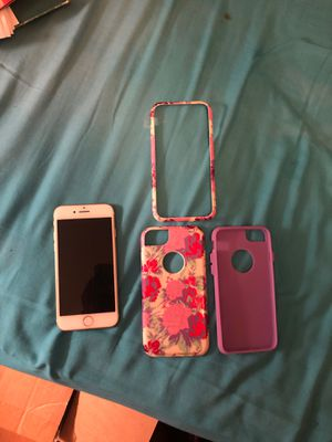 IPhone 7 16G Silver w/case for Sale in Crewe, VA